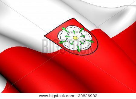 Flagge von Rosenheim, Deutschland.
