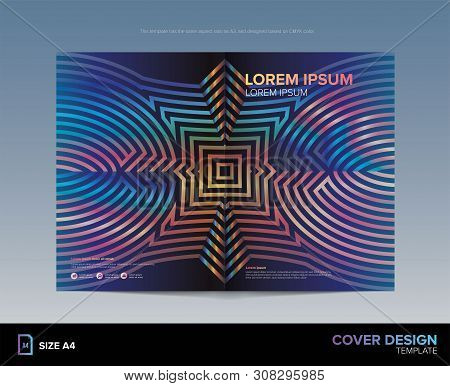 An Abstract Art On Book Cover Template In Vector. Size A2, A4, A3, Cmyk Color.