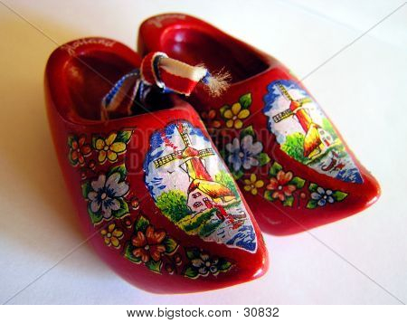 A Pair Of Souvenir Dutch Clogs