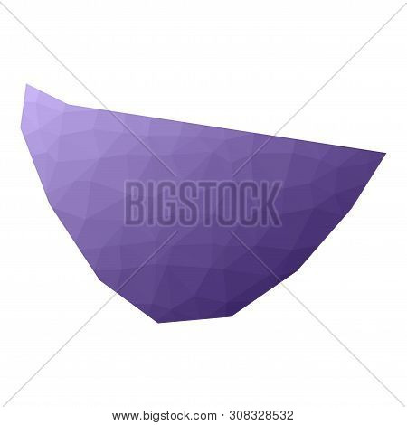 St. Barths Map. Geometric Style Country Outline. Cool Violet Vector Illustration.