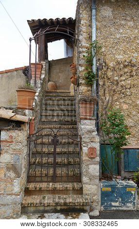 Mougins, France - April 03, 2019: Mougins Is A Commune In Southeastern France That Is A Great Place