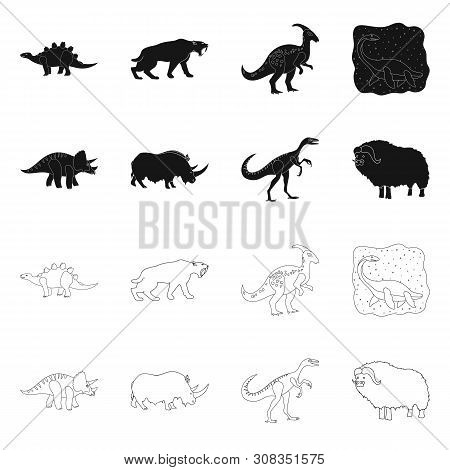 Vector Illustration Of Animal And Character Icon. Set Of Animal And Ancient Vector Icon For Stock.