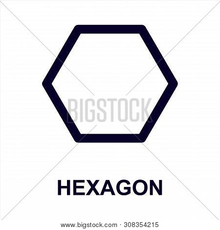 Hexagon Icon Isolated On White Background. Hexagon Icon Simple Sign. Hexagon Icon Trendy And Modern