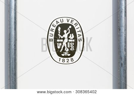 Viby, Denmark - June 5, 2019: Bureau Veritas Logo On A Container. Bureau Veritas Is An International