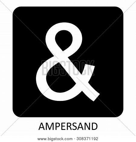 White Ampersand Icon Illustration On Dark Background