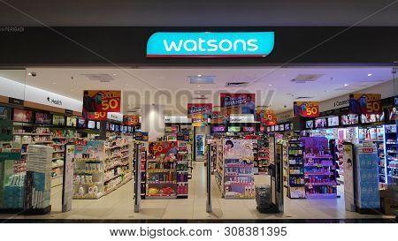Melaka, Malaysia - 25 Jun, 2019: Watsons Store Located In Melaka, Malaysia. Watsons Personal Care St
