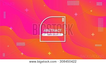 Fluid Style, Geometric Background With Trendy Gradients Composition And Simple Shapes. Wide Abstract