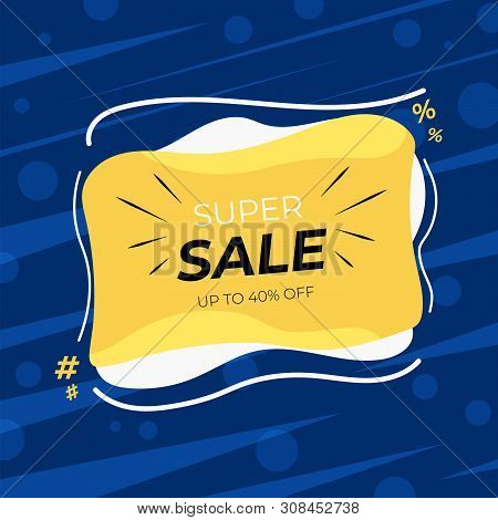 Sale Discount Banner Template Design. Big Sale Special Offer, Season Special Offer Banner. Vector Il