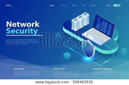 Isometric Personal Data Protection. Security Data Protection Isometric  Vector Illustration. Concept