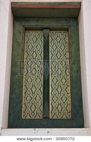 Thai style door