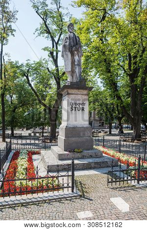 Levoca, Slovakia - August 11, 2015: Sculpture Of Ludovit Stur (1815-1856) On Main Square Park In Lev