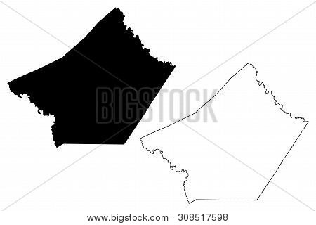 Guadalupe County, Texas (counties In Texas, United States Of America,usa, U.s., Us) Map Vector Illus