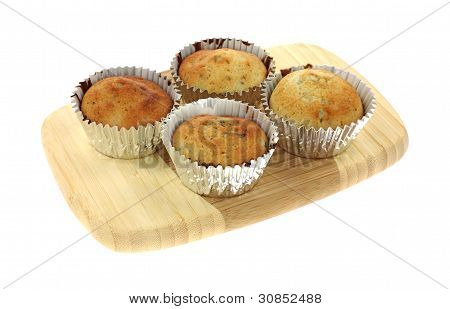 Four Blueberry Muffins Cutting Board