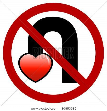 No U-Turn Your Love Sign