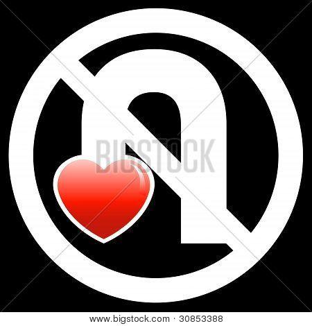 No U-Turn Your Love Sign (Black)