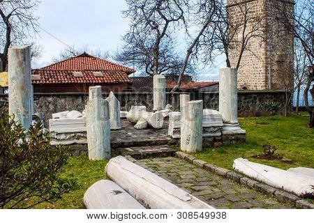 Ancient Ruins At Premises Of Hagia Sophia Church In Trabzon