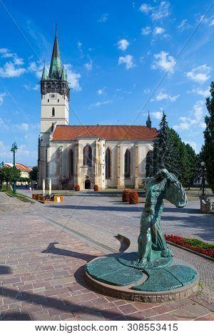 Presov, Slovakia. 09 August 2015. St. Nicolas Church (slovak: Dom Sv. Mikulasa). The Oldest And Most