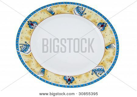 Colorful fancy plate