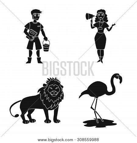 poster of Isolated object of fauna and entertainment sign. Collection of fauna and park stock symbol for web.