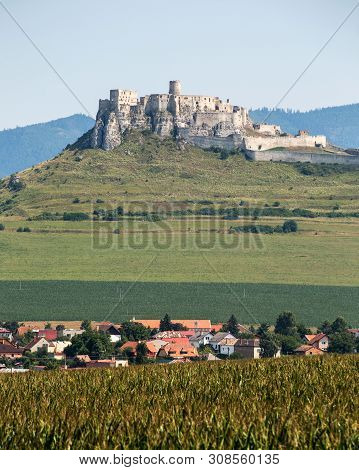 Spisski Hrad, Slovakia. 11 August 2015. One Of The Biggest Castle Complexes In Europe. Oldest Histor
