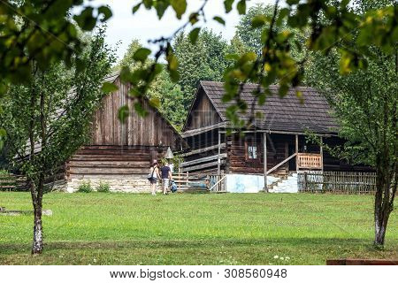 Stara Lubovna, Slovakia. 10 August 2015. Open-air Museum In Stara Lubovna. Ethnographic Natural Expo