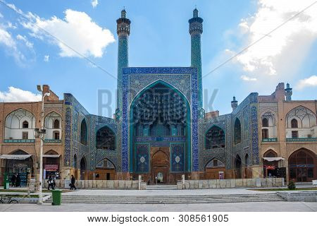 Isfahan, Iran - March 7: People At Imam Square In Fornt Of Imam Mosque On March 7, 2013 In Isfahan,