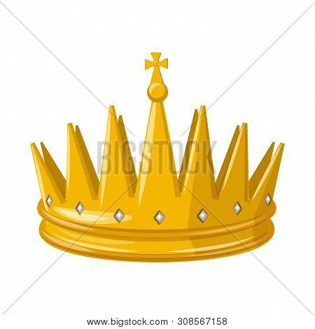 Isolated object of monarchy and gold sign. Collection of monarchy and heraldic bitmap icon for stock. poster