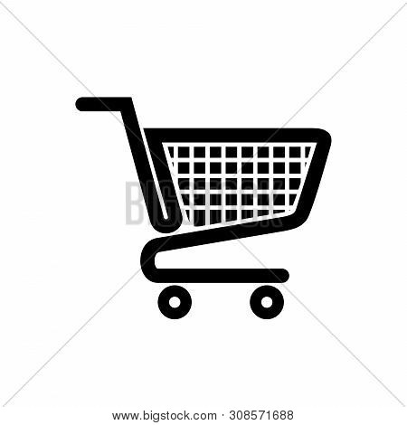 Shopping Cart Icon Vector Illustration, Trolley Logo, Shopping Cart Logo, Web Icons, Trolley Icon Ve