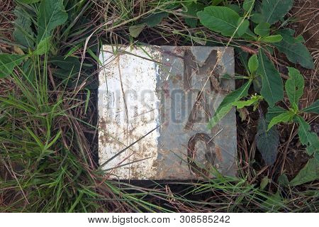 Sign, Which Marks Area Safe Of Unexploded Ordance, Cleared By Mines Advisory Group, Phonsavan, Laos
