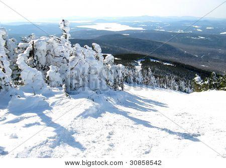 mountain top ski trail