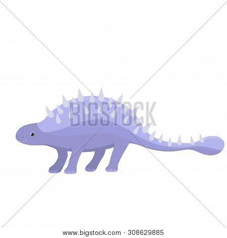 Ankylosaurus Dinosaur. Isolate On White Background. Vector Graphics In Cartoon Style.