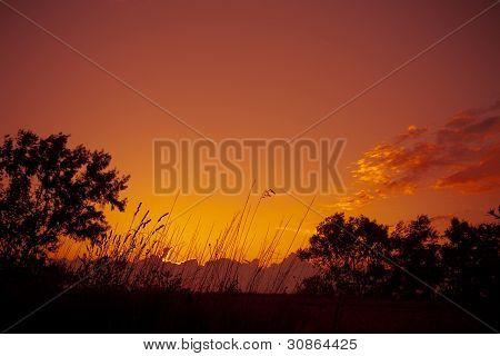 Beautiful Sunset Near River