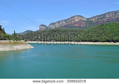 Pantano De Sau In The Province Of Barcelona