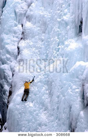 The Face Of Ice Climbing