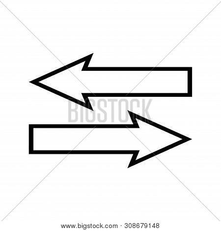 Left Right Arrow Icon Vector Photo Free Trial Bigstock