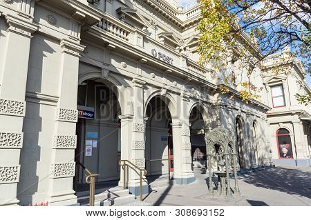 Melbourne, Australia - June 9, 2019: The Former North Melbourne Town Hall On Errol And Queensberry S