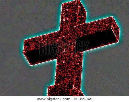 Neon cross enhanced image