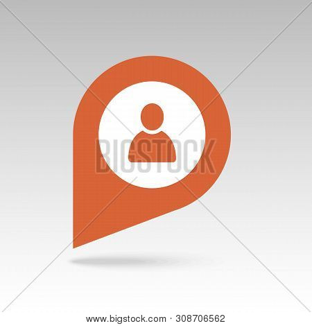 Location People Pin Map Icon. Map Pointer. Map Markers. Destination Vector Icon. Gps Location Symbol