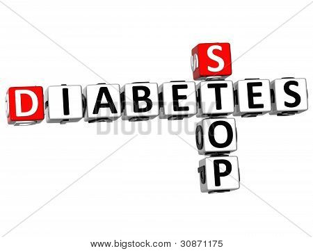 3D Diabetes Stop Crossword Text