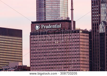 Chicago - Circa June 2019: One Prudential Plaza In Downtown. Prudential Is Reducing Greenhouse Gas E