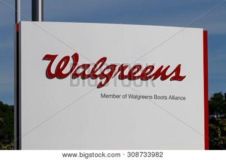 Deerfield - Circa June 2019: Walgreens Boots Alliance Headquarters. Wba Brought Together Walgreens A
