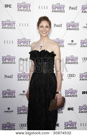 SANTA MONICA, CA - FEB 25: Fiona Hefti at the 2012 Film Independent Spirit Awards on February 25, 2012 in Santa Monica, California