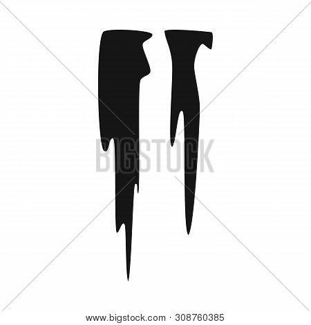Vector Illustration Of Icicle And Ice Icon. Set Of Icicle And Froze Stock Vector Illustration.