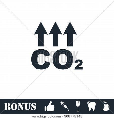Evaporation icon flat. Vector illustration symbol and bonus pictogram poster
