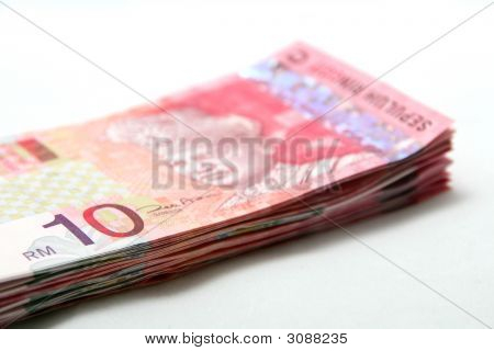Stack Of Malaysian Currency Notes