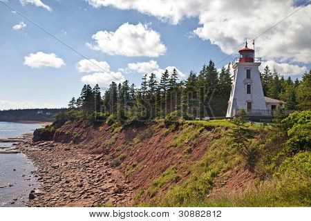 Cape Bear Lighthouse on eastern Price Edward Island, Canada