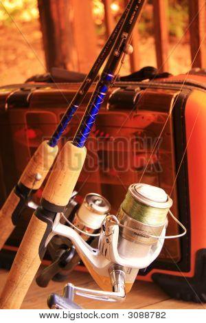 Fishing fish tacklebox rod lures bait