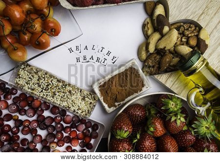 Super Food To Slow The Ageing Process Concept Including High In Antioxidants, Anthocyanins, Dietary