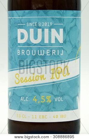Almere, The Netherlands - May 5, 2019: Duin Session Ipa Beer Logo.