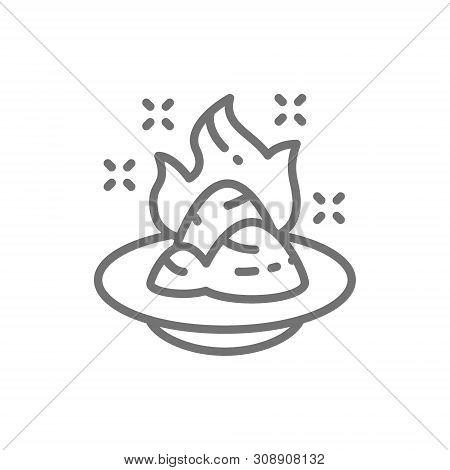 Wasabi, Japanese Horseradish, Spicy Seasoning Line Icon.